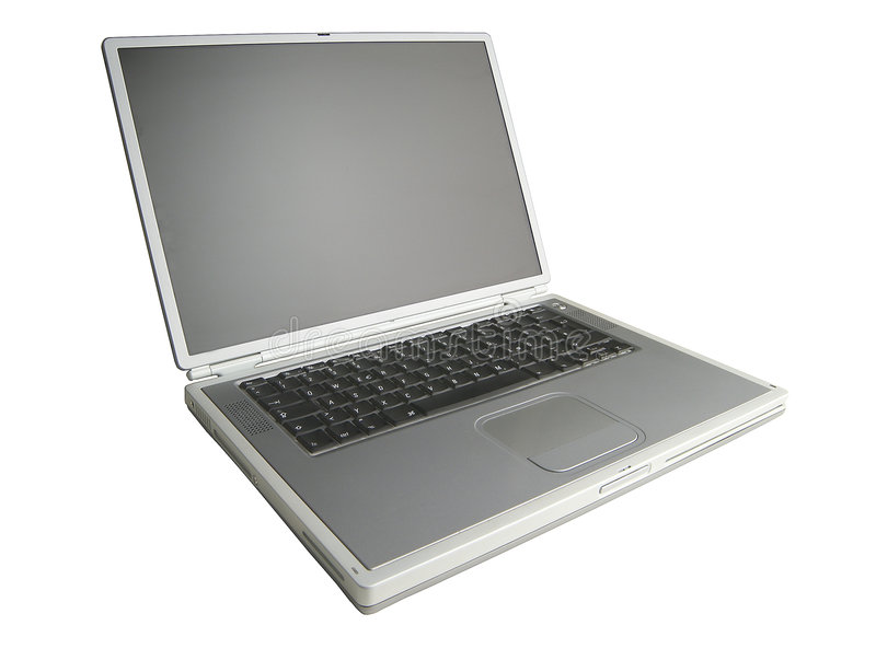 Powerbook 02. Laptop on white background. Clipping path included