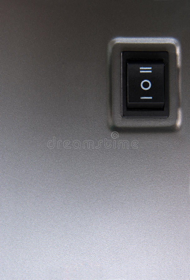 Powerbutton - close-up. royalty-vrije stock foto