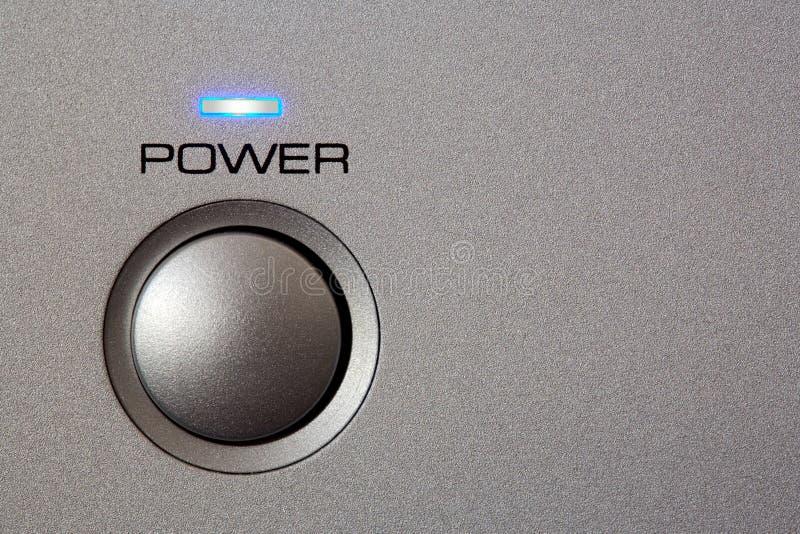 Powerbutton - plan rapproché image stock