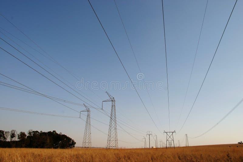 Download Powercables zdjęcie stock. Obraz złożonej z veld, zima - 141682
