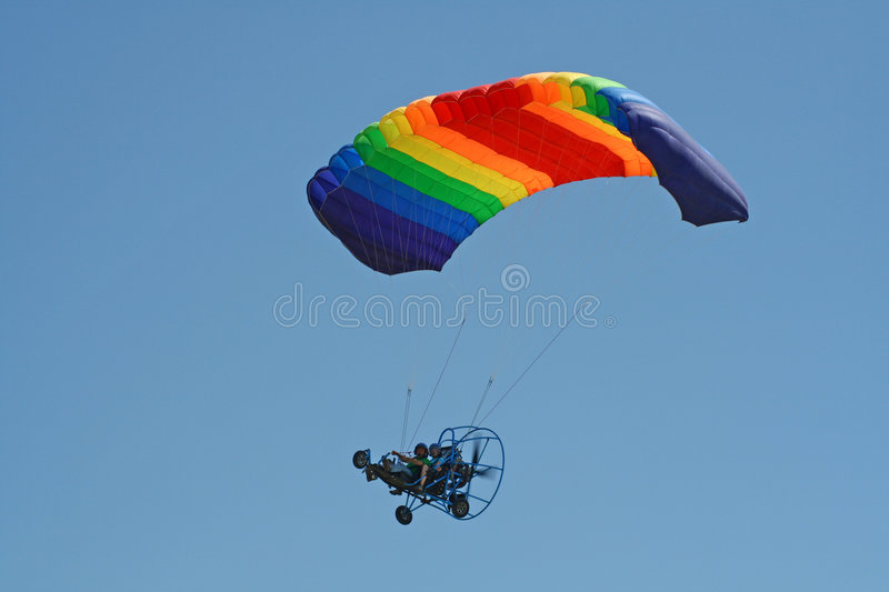 Powered Paraglider royalty free stock photography