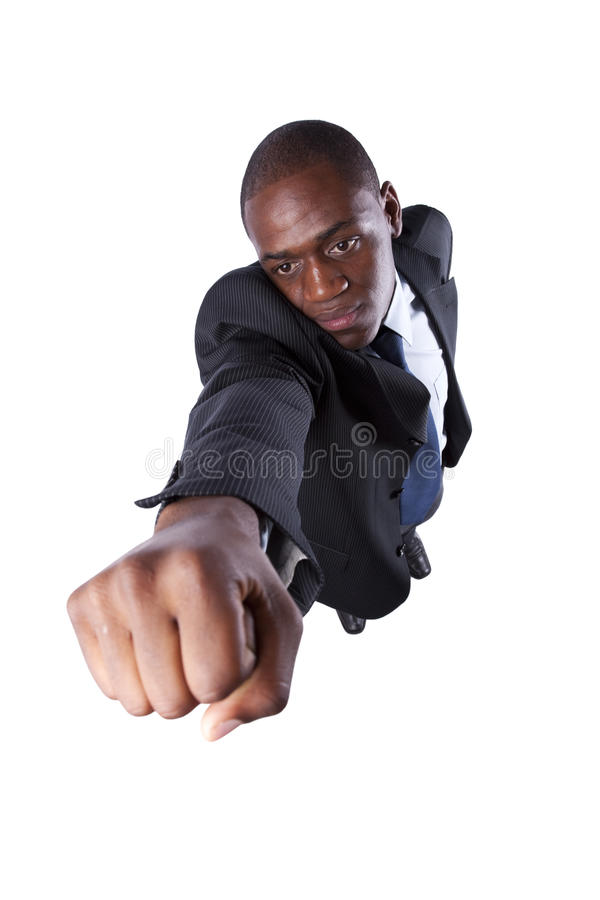Powerful African Businessman Royalty Free Stock Photography