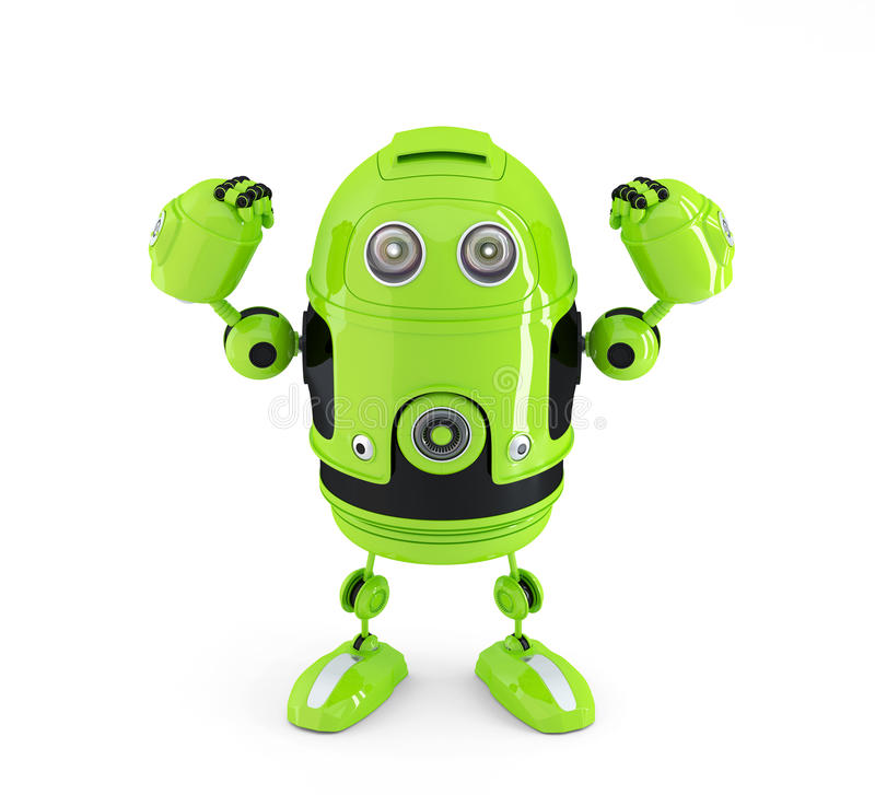 Powerful Android Robot. Technology Concept. Royalty Free Stock Images