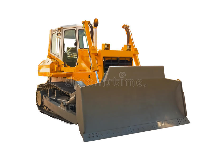 Powerful bulldozer stock photo