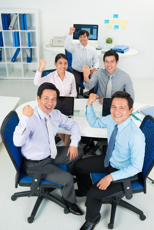 Powerful business team