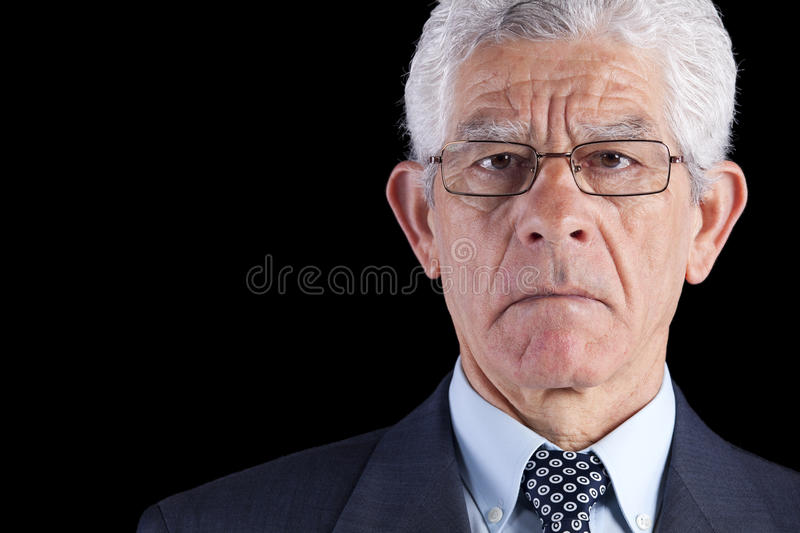 Powerful businessman royalty free stock image