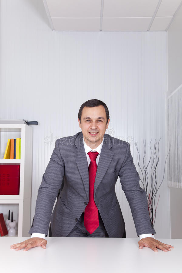 Powerful Businessman At The Office Stock Photos