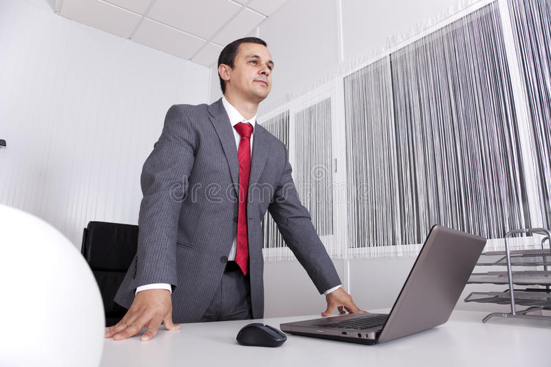 Download Powerful Businessman Working At The Office Stock Image - Image of marketing, busy: 16620503