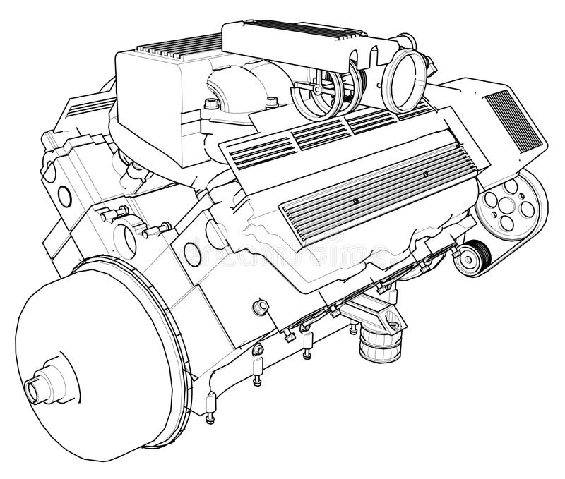 Fancy Car Engine Drawing Gift - Everything You Need to Know About ...