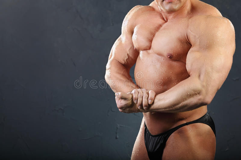 Download Powerful Chest And Hand Muscles Of Bodybuilder Stock Image - Image: 22735957