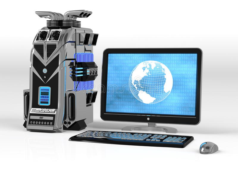 Download Powerful Computer System stock illustration. Image of internet - 12034023