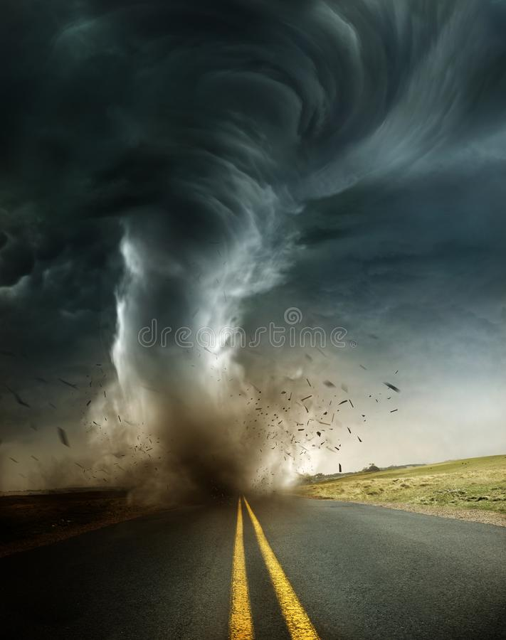 A Powerful And Destructive Tornado royalty free stock image
