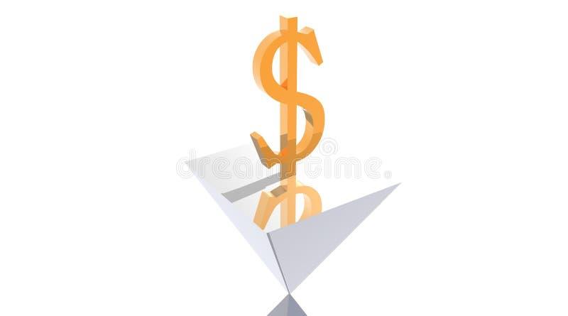 Powerful dollar on reversed pyramid
