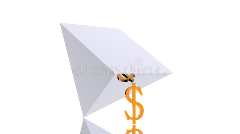 Powerful Dollar Supporting Falling Pyramid Stock Image