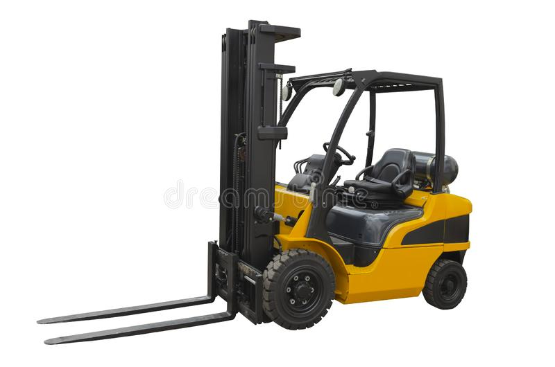 Powerful electric forklift stock photos