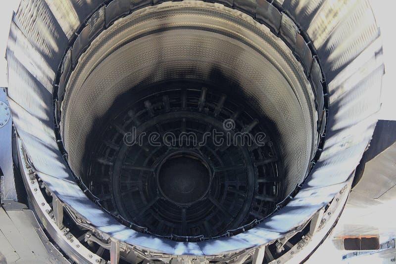 Powerful F-15 Strike Eagle Engine royalty free stock images