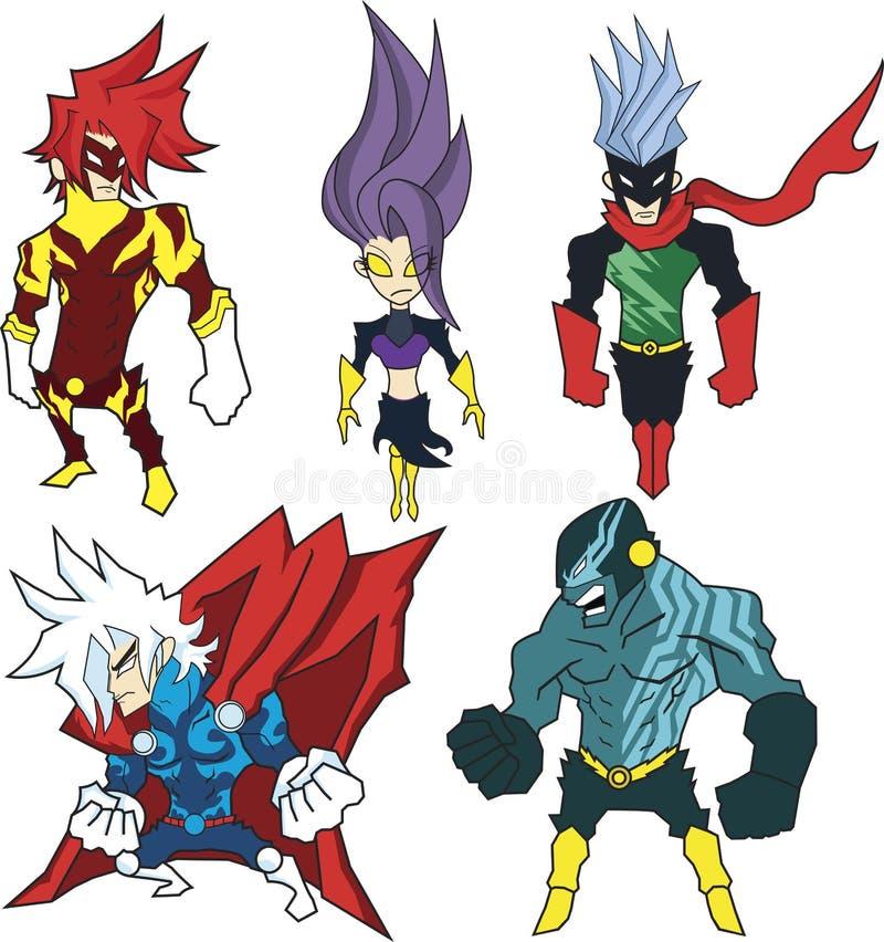 Powerful Heroes vector illustration