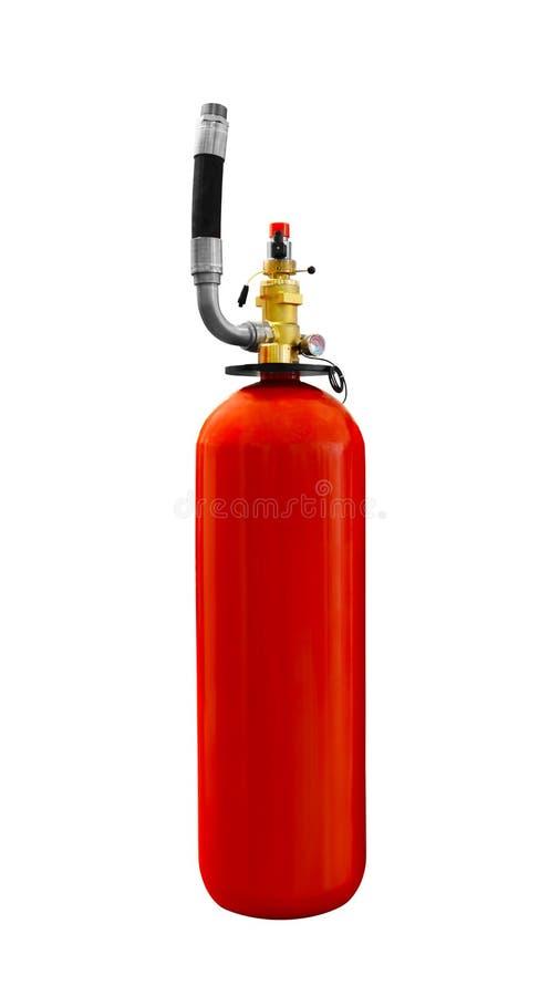 Powerful industrial fire extinguishing system extinguisher isolated on white background stock photography