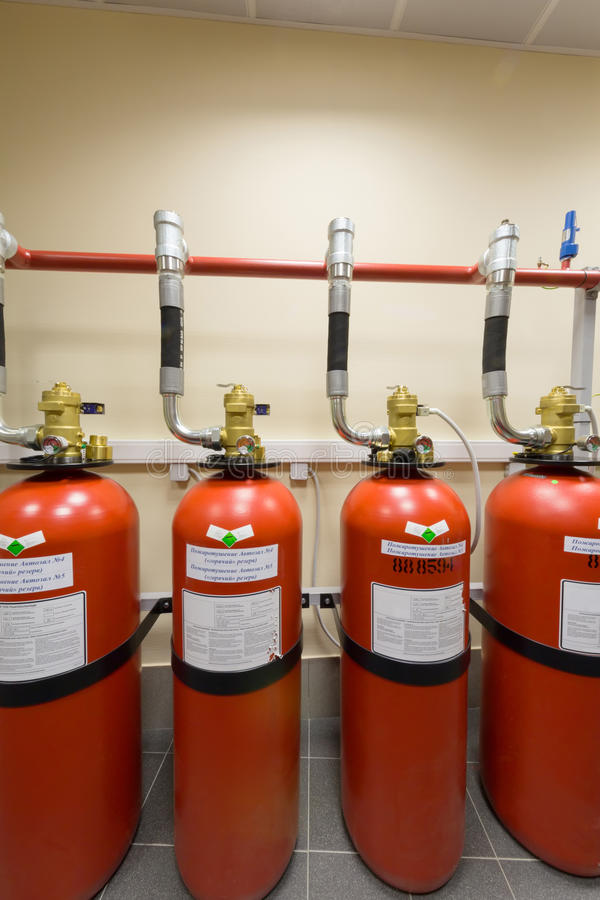 Download Powerful Industrial Fire Extinguishing System. Royalty Free Stock Images - Image: 30983859