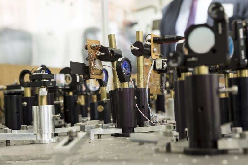 Powerful industrial LASER equipment set stock image