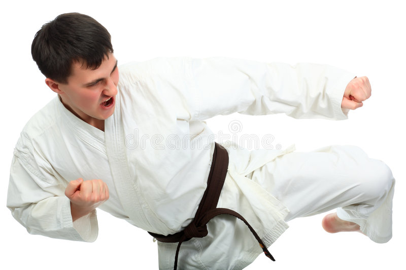 Download Powerful kick stock photo. Image of male, adonis, battle - 9299844