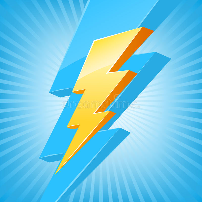 Powerful lighting symbol stock illustration