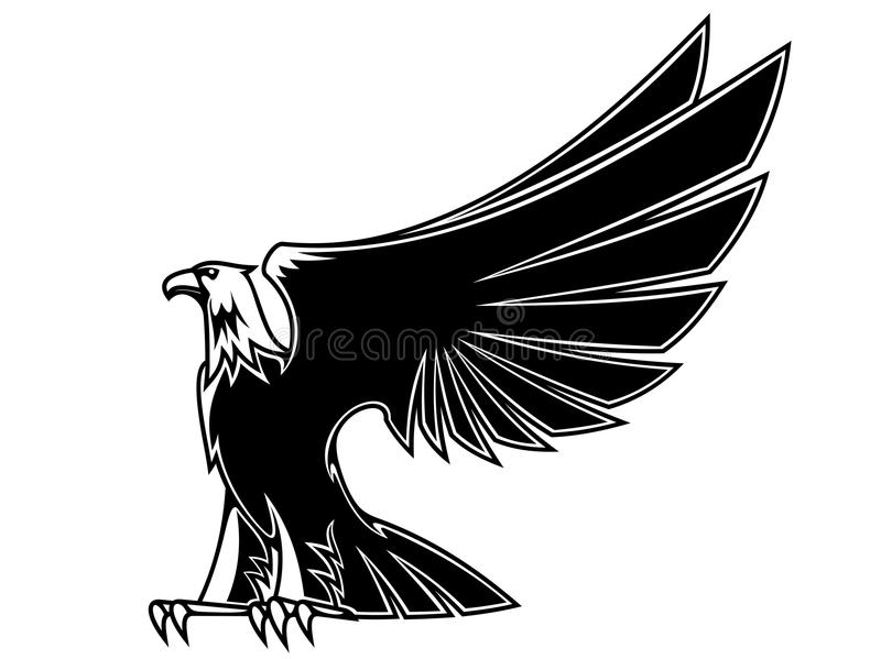 Powerful and majestic eagle royalty free illustration