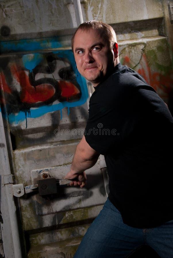 Powerful man expression portrait