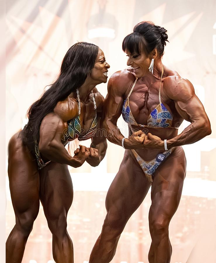 Margie Martin Poses at 2019 Toronto Pro Supershow royalty free stock images
