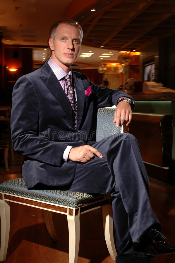 Download Powerful Men In A Velvet Suit Stock Image - Image of couture, chin: 518291