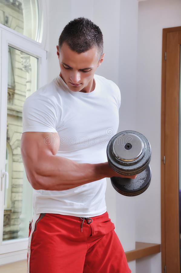 Download Powerful muscular man stock photo. Image of activity - 14672492