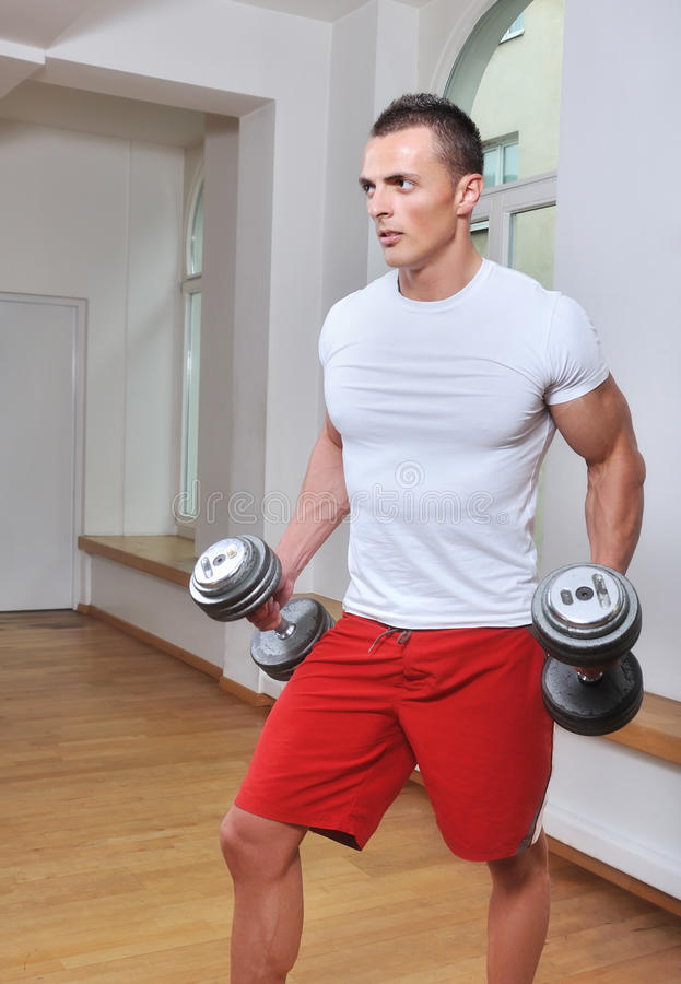 Download Powerful muscular man stock photo. Image of exercising - 14703544