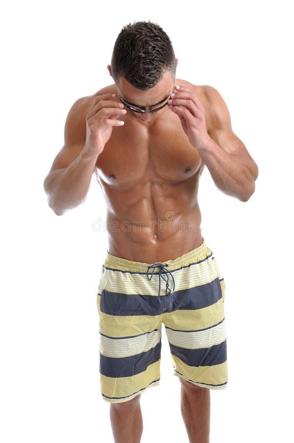 Download Powerful Muscular Man Posing Stock Image - Image: 28858523