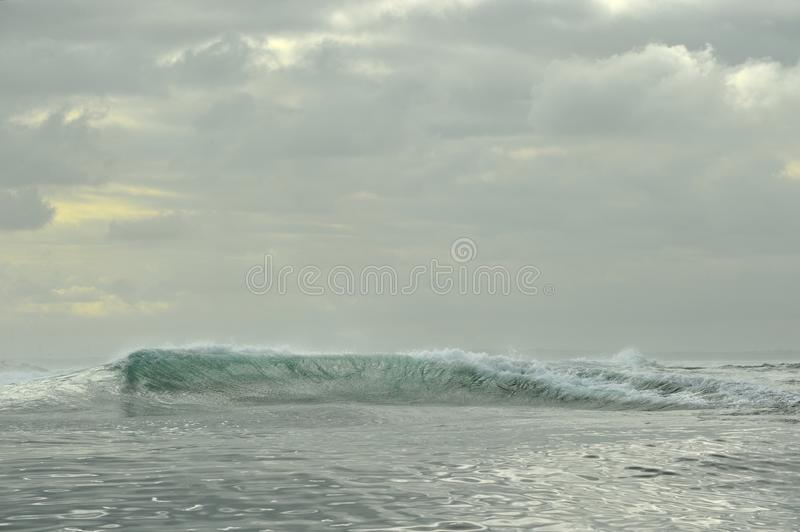 Powerful ocean waves breaking. Wave on the surface of the ocean. royalty free stock images
