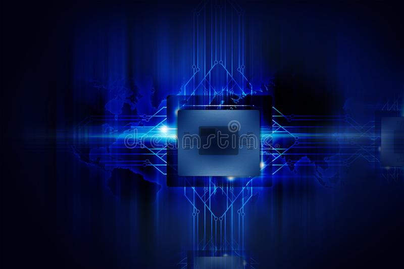 Download Powerful Processor stock illustration. Image of circuit - 29230501
