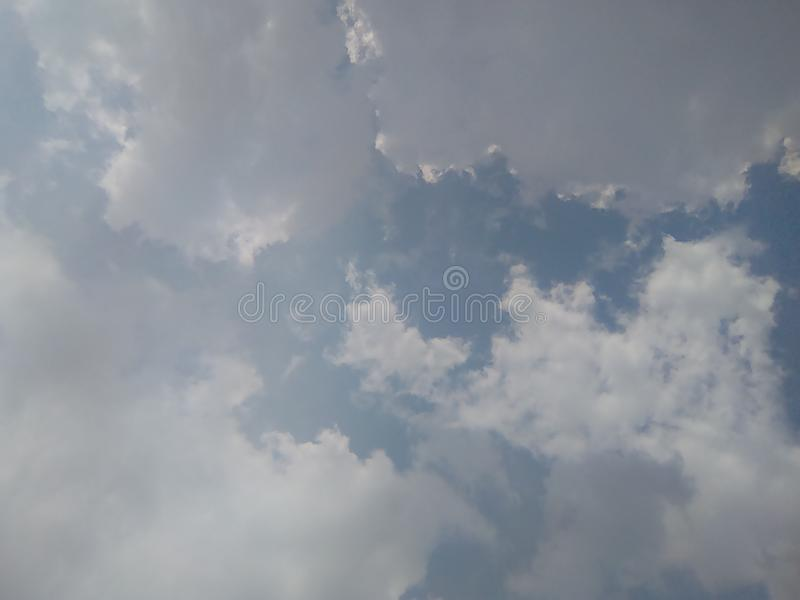 Powerful sky blue colours wheather royalty free stock photography