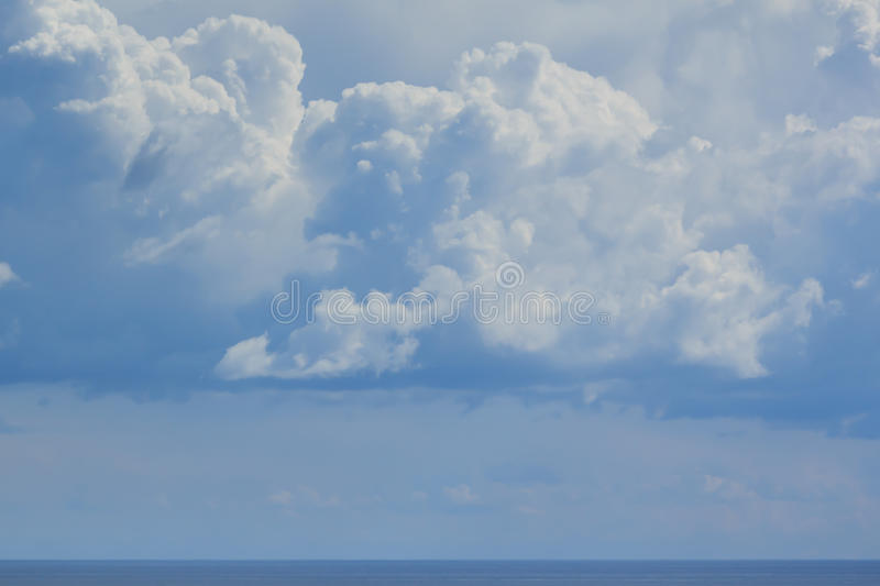 Powerful sky above Black sea. stock photo