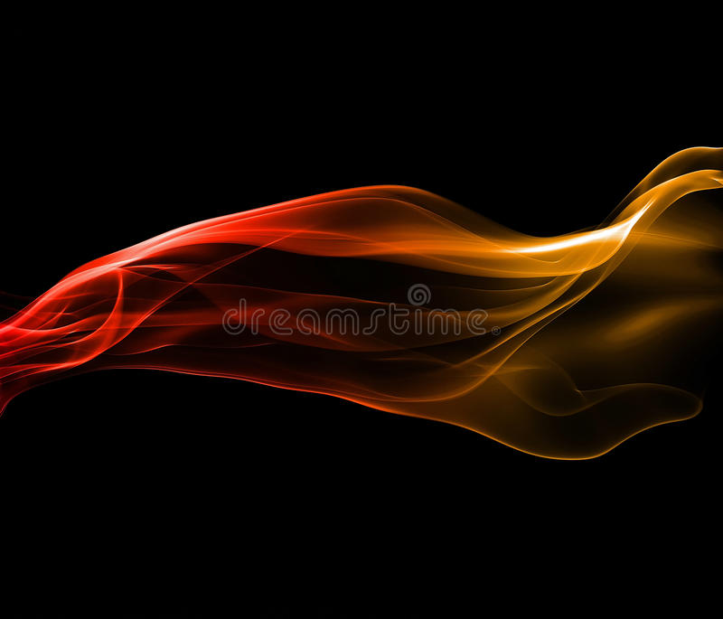 Powerful smoke abstract stock illustration