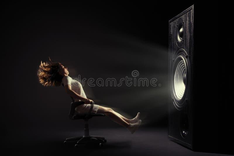 Powerful sound stock image