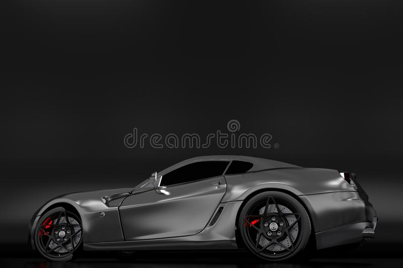 Download Powerful Sporty Car stock illustration. Illustration of motion - 26046206