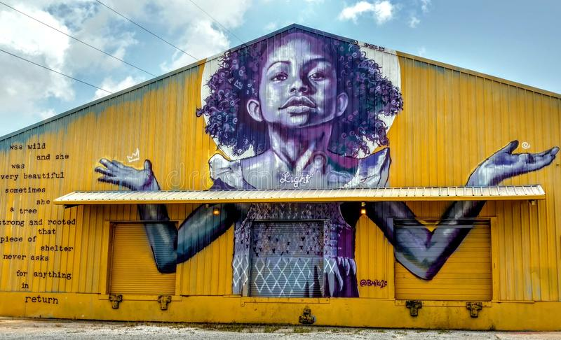 Powerful street art New Orleans, Louisiana royalty free stock images