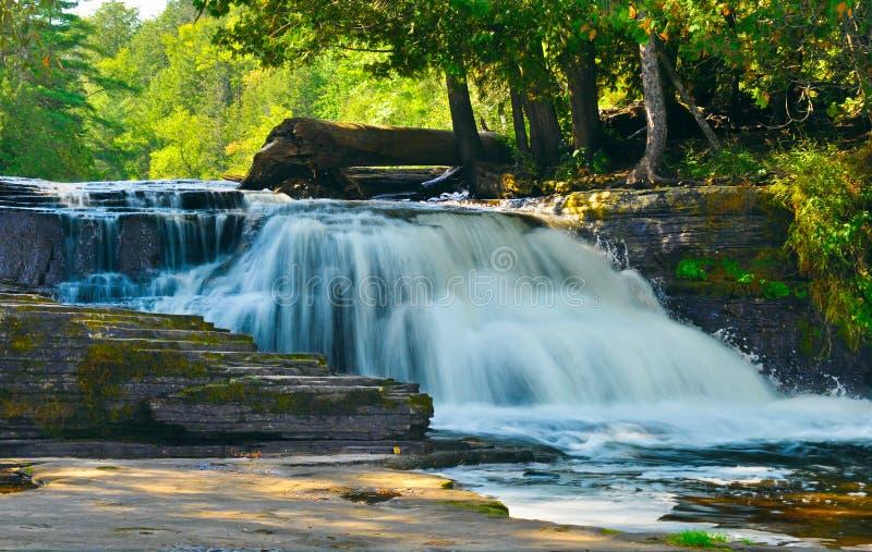 Tahquamenon Falls State Park, Michigan. The powerful Tahquamenon Falls at Tahquamenon Falls State Park in Michigan`s upper peninsula stock images