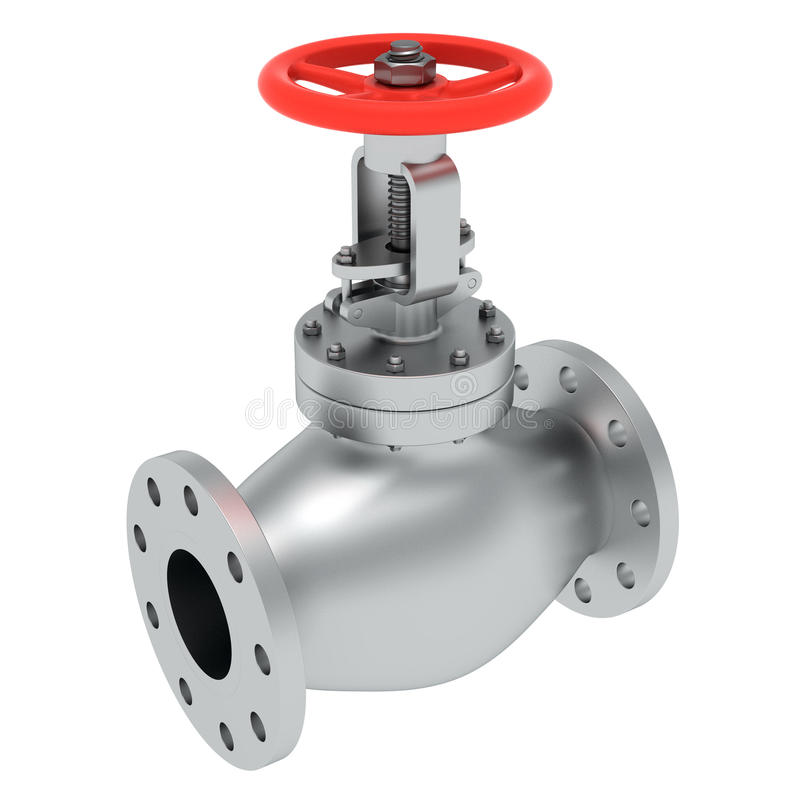 Powerful valve vector illustration