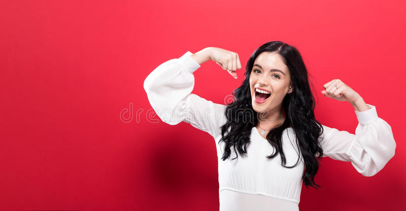 Powerful young woman royalty free stock image