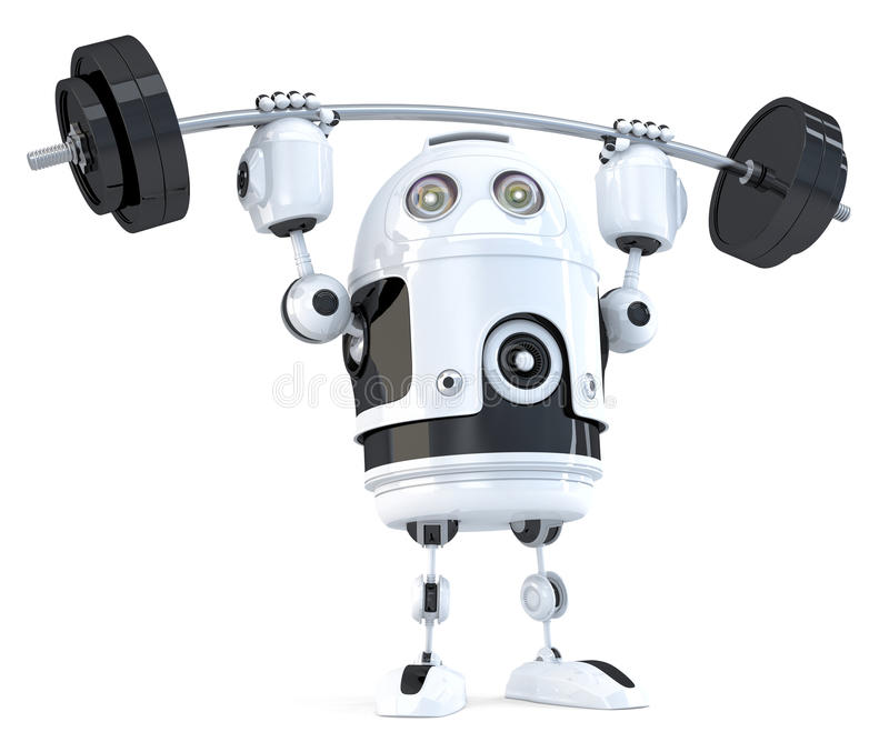 Powerfull Robot. Technology concept. Isolated. Contains clipping path. Powerfull Robot. Technology concept. Isolated on white. Contains clipping path royalty free illustration