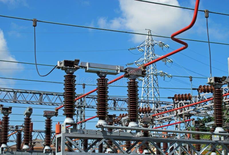 Download Powerhouse With Lattice Girders, Disconnectors Stock Photo - Image: 24671528