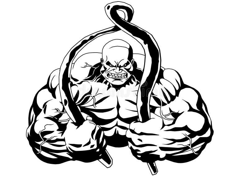 Powerlifting stock de ilustración