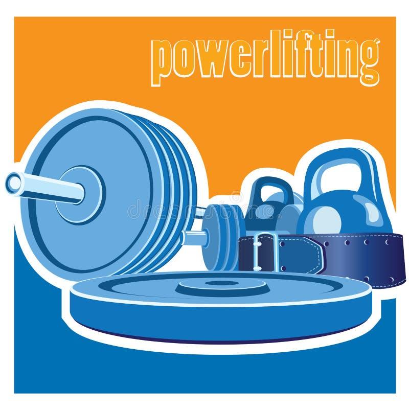Powerlifting illustration de vecteur
