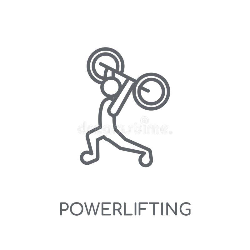 powerlifting lineair pictogram Moderne overzicht het powerlifting embleemconce vector illustratie