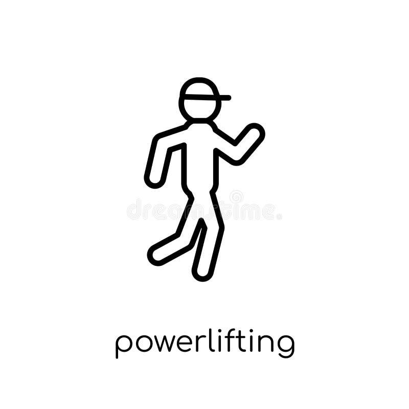 Powerliftingspictogram Het in moderne vlakke lineaire vector powerlifting royalty-vrije illustratie